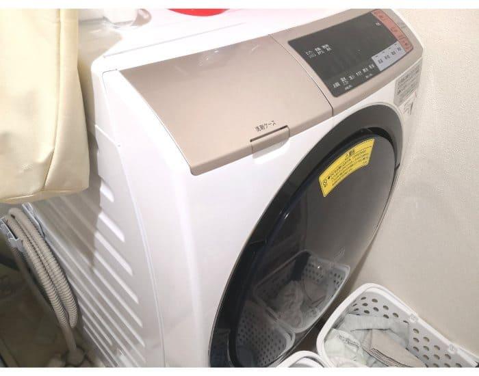 魔法のテープを貼る前の洗濯機