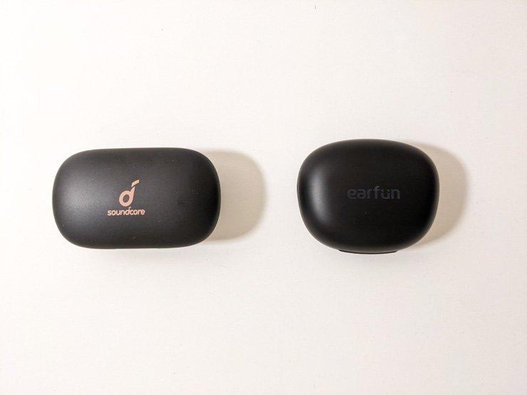 EarFun AirProとAnker Soundcore Life P2のケース比較
