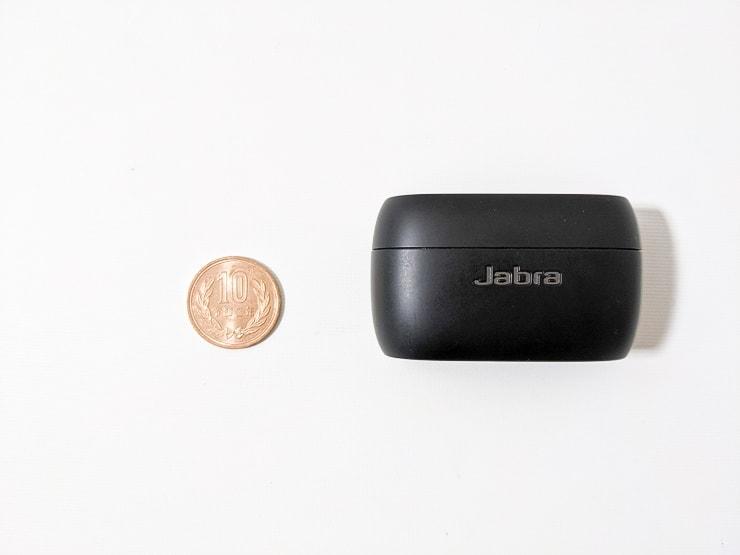 Jabra Elite 75tのケースと10円玉比較