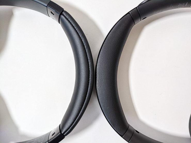 Soundcore Life Q30とLife Q20のデザインを比較した様子上部