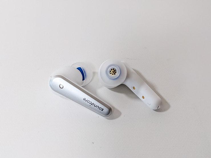 Anker Soundcore Liberty Air 2 ProにSpinFit CP360を装着した様子