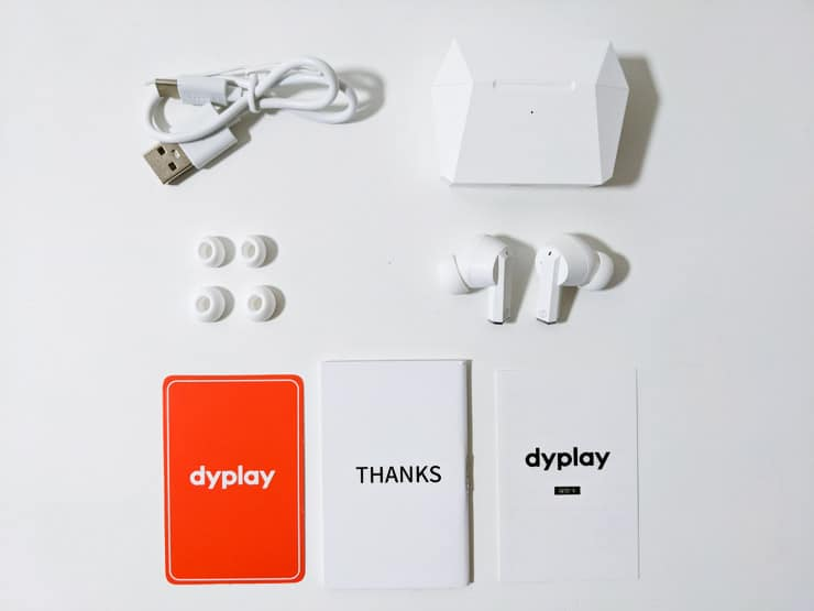 dyplay ANC Podsの付属品一覧