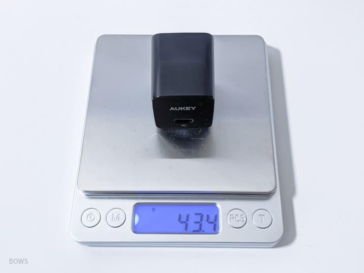 AUKEY「AUKEY「PA-Y20S」の重量