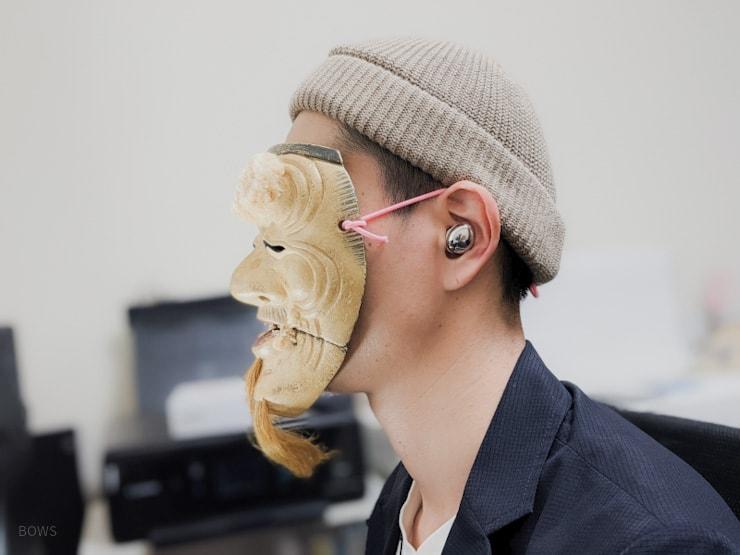 Galaxy Buds Proを耳に装着した様子