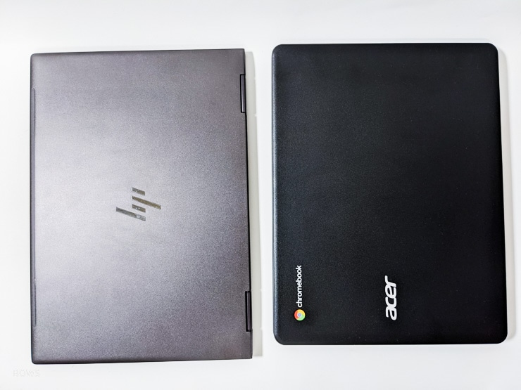 13インチのENVY X360とほぼ同等のサイズ感なChromebook 712