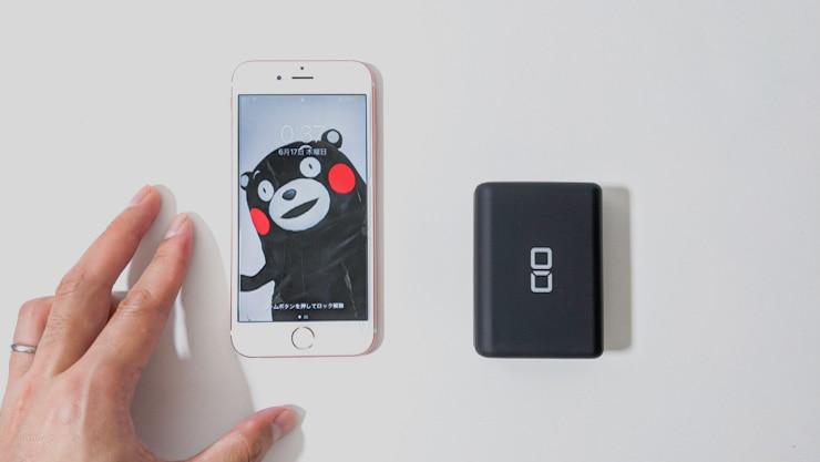 iPhone6sとCIO SMARTCOBY Proを比較してみるとその小ささがよく分かる
