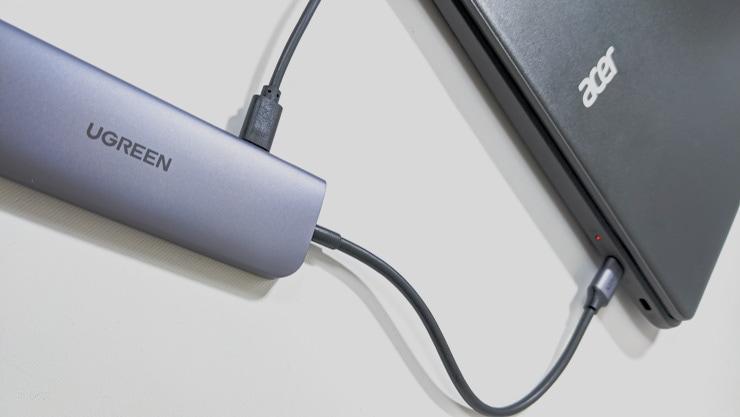 UGREENのUSBハブならChromebookも急速充電ができる