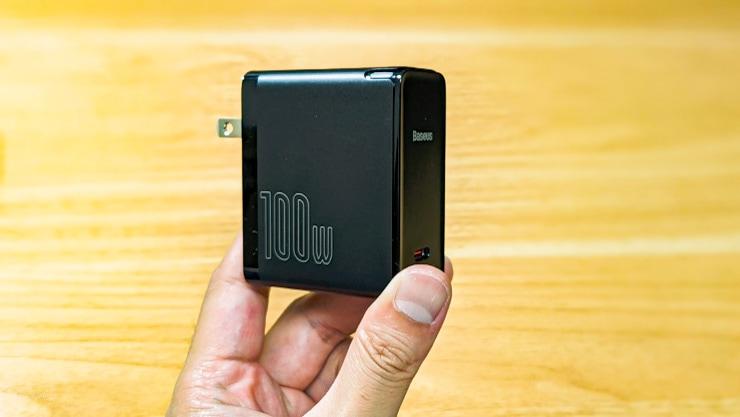 BaseusのGaN2急速充電器をレビュー。USB-C単一ポートで最大100Wまで出力するQC5搭載器